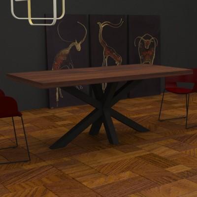Table de cuisine Salomone en bois massif
