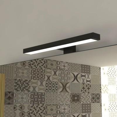 VE.CA-ITALY SPECCHI PER ARREDO BAGNO E CASA 100x70 cm - luce//plafoniera LED 30 cm CON LUCE//PLAFONIERA LED DESIGN MINIMALE