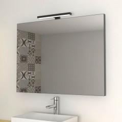 Specchio arredo bagno con bordo nero