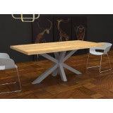 Tavolo Salomone legno massello scortecciato