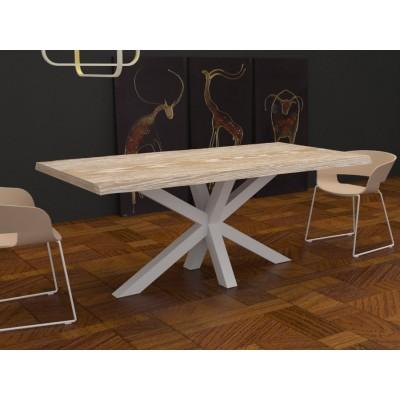 Table Salomone en bois massif bord irrégulier
