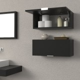 Suspended bathroom drawers cabinets