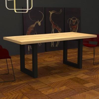 Table de cuisine Jacob en bois massif