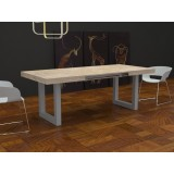 Deryck extendable Table with extensions-rack