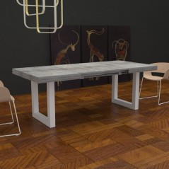 Jacob extendable Table with extensions-rack