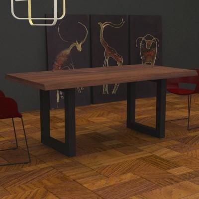 Table Jacob en bois massif bord irrégulier