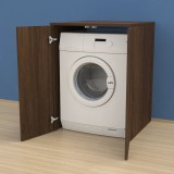 Washing machine furniture cover with doors