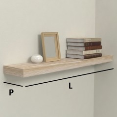 Solid wood customized shelves