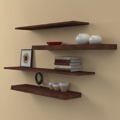 Solid wood shelves irregular edge