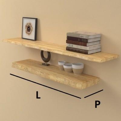 Mensole su misura in legno massello scortecciato