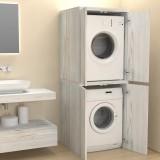 Colonne avec portes couvercle machine à laver