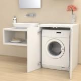 Meuble couvercle machine à laver Stoccolma avec portes