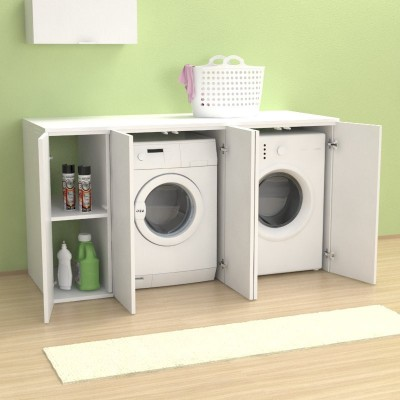 Riga 175 cm Washing machine cover with doors
