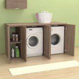 Meuble couvercle machine à laver Riga 175 cm avec portes