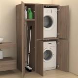 Colonne + compartiment accessoires avec portes