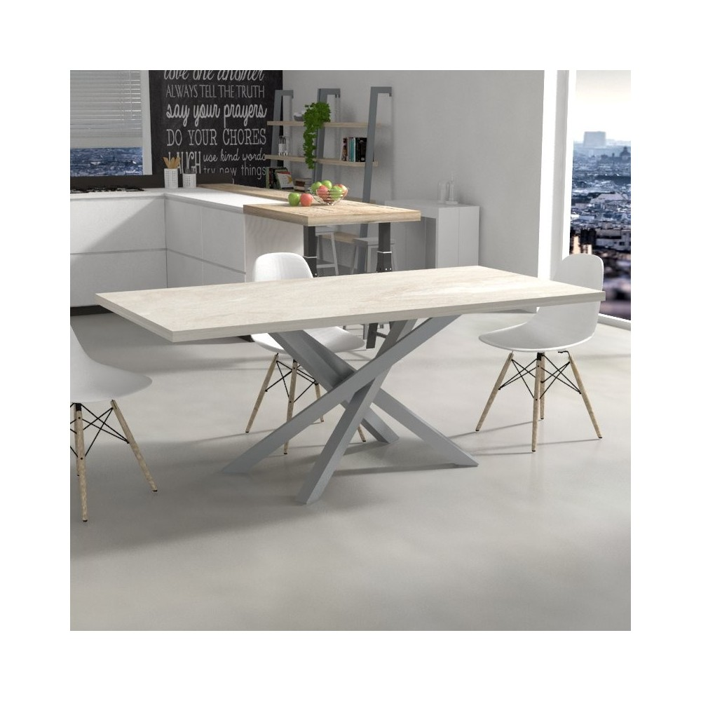 Polinesia Kitchen Table marble effect