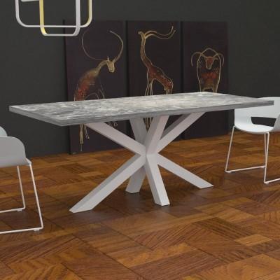 Tavolo da cucina Salomone effetto marmo