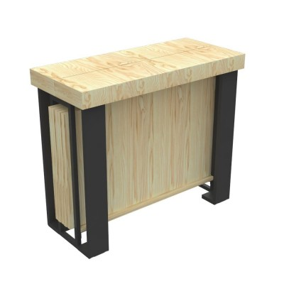 Outdoor Extensible console Urano with extensions-rack