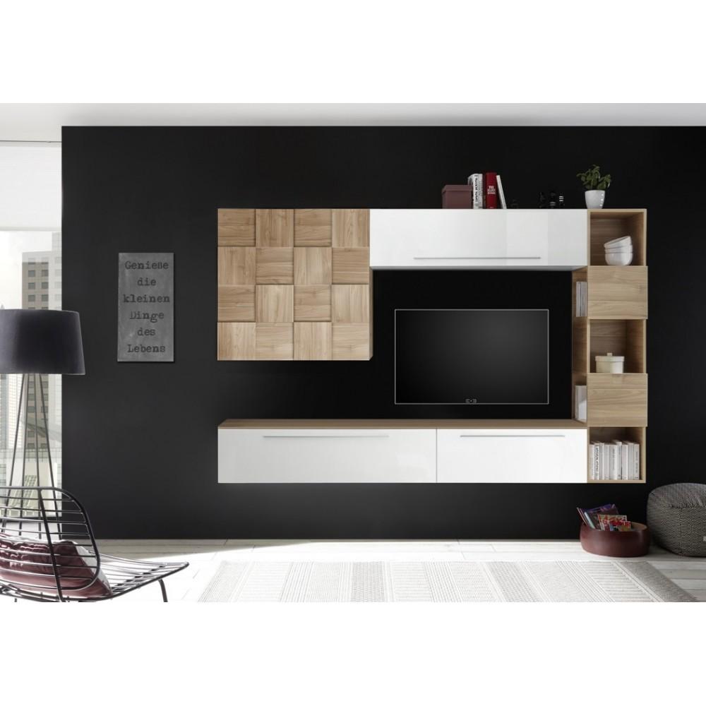 meuble de rangement salon marsiglia meuble salon. Black Bedroom Furniture Sets. Home Design Ideas