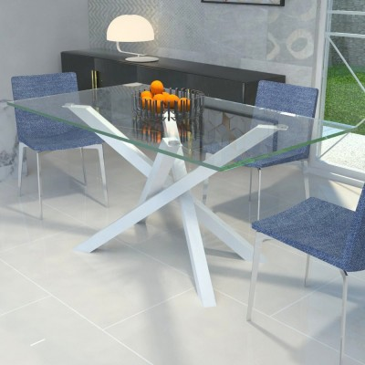 Table en verre Polinesia