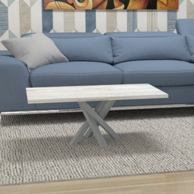 Table basse Polinesia pour salon - structure aluminium