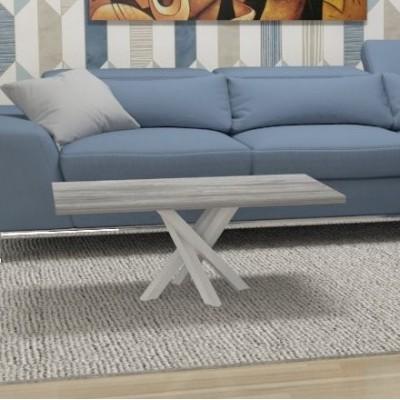 Table basse Polinesia pour salon - structure blanc