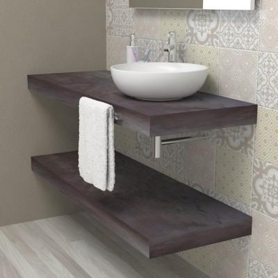 Mensola lavabo bagno - acciaio invecchiato