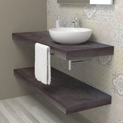 Wash basin shelf - Aged steel