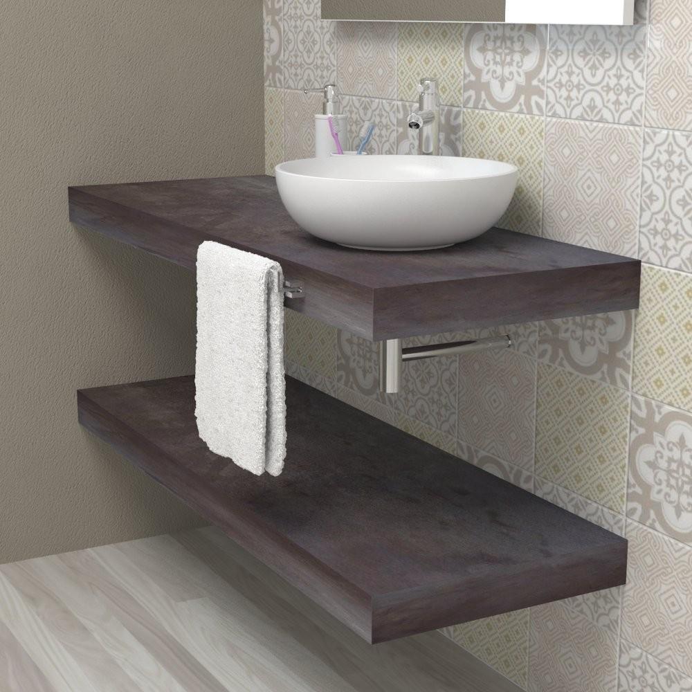 Wash basin shelf - Aged steel