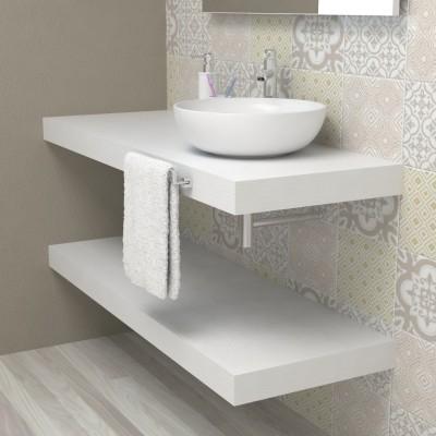 Top per bagno - bianco frassinato