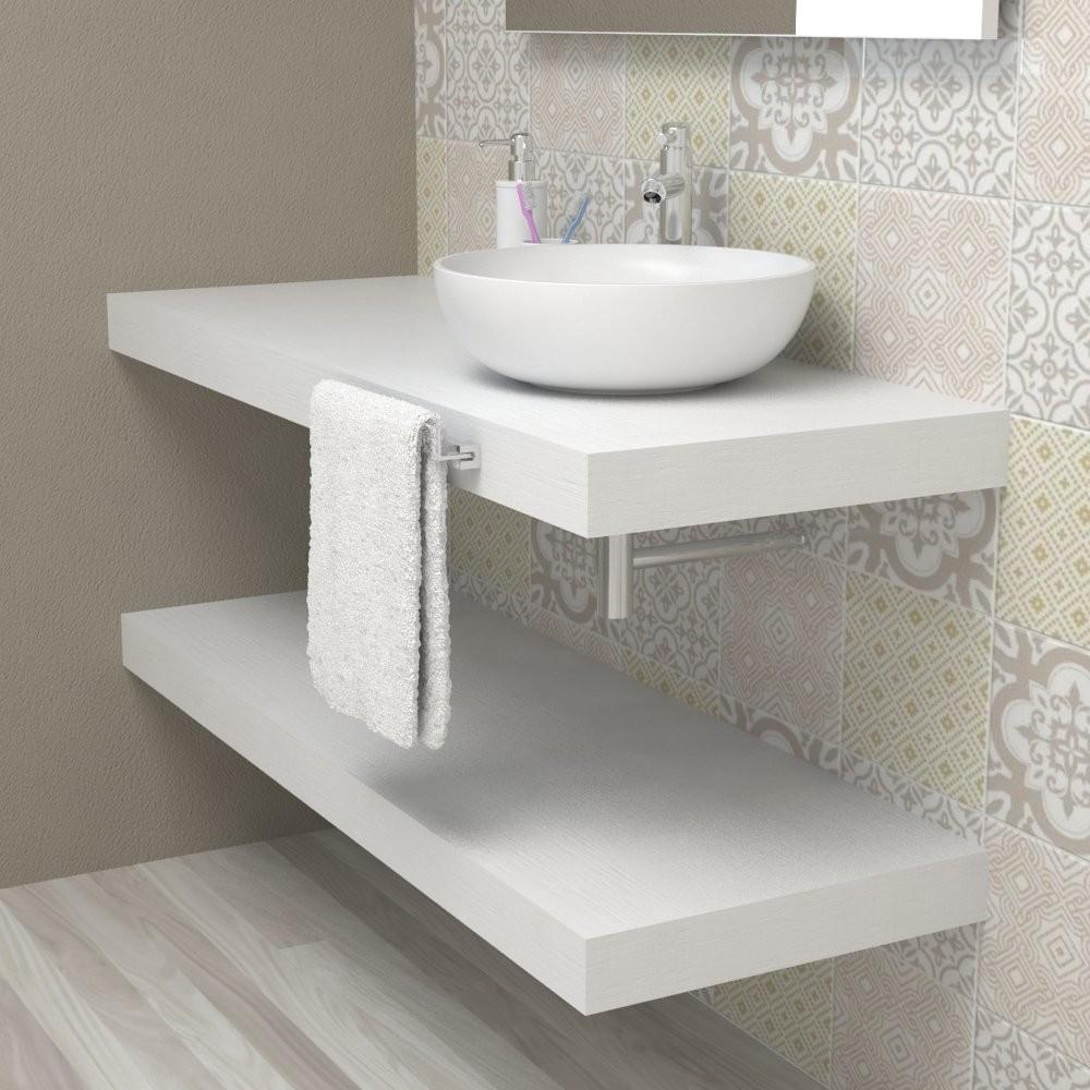 Wash basin shelf - White Ash