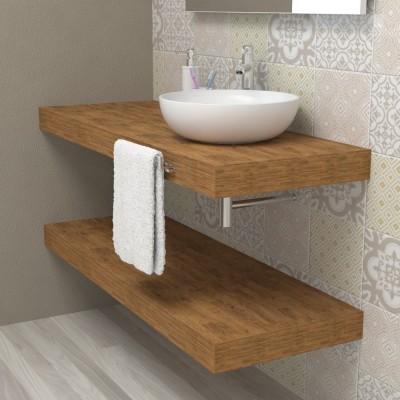 Mensola in legno per bagno - Faggio