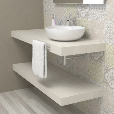 Wash basin shelf - White larch