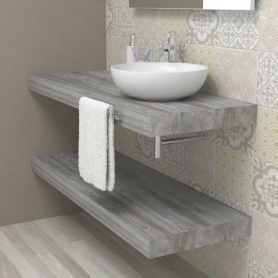 Wash basin shelf - Grey Jackson Pine