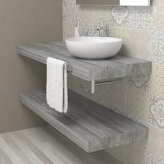 Wash basin shelf - Grey Jackson Pine