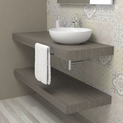 Wash basin shelf - Grey durmast