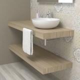 Wash basin shelf - Rock durmast