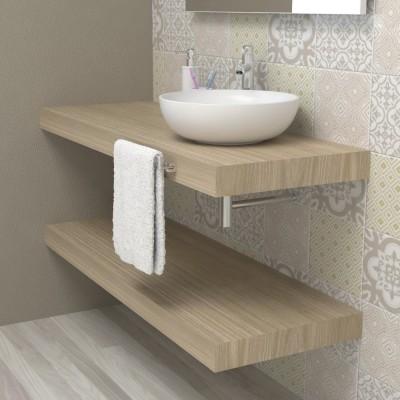 Piano lavabo per bagno - Rovere rock