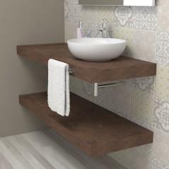 Mensolone bagno in legno - Ruggine