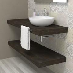 Mensola legno piano per lavabo - Vulcanic