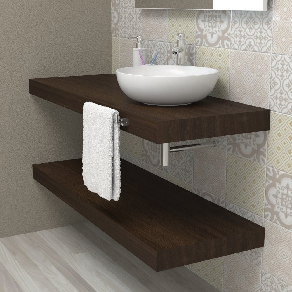 Tavola legno piano per bagno - Wengè