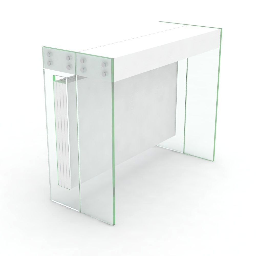 Extensible console Crystal with extensions-rack