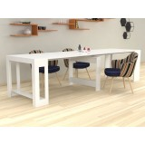 Extensible console Karen glossy white