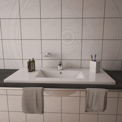 Lavabo ad incasso in ceramica Fresh 102