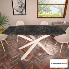 Table Polinesia ovale in laminam