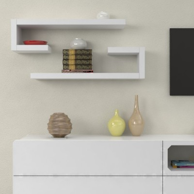 """L"" shape Wooden Shelves"