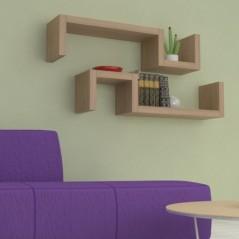 Mensole in legno design ad S