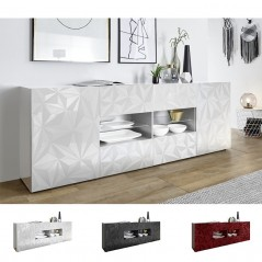 """Exagon"" 241 cm with drawers sideboard - white"