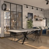 Hawaii extendable Table with extensions-rack