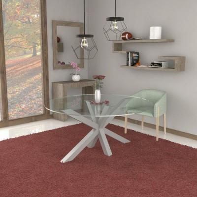 Salomone glass table